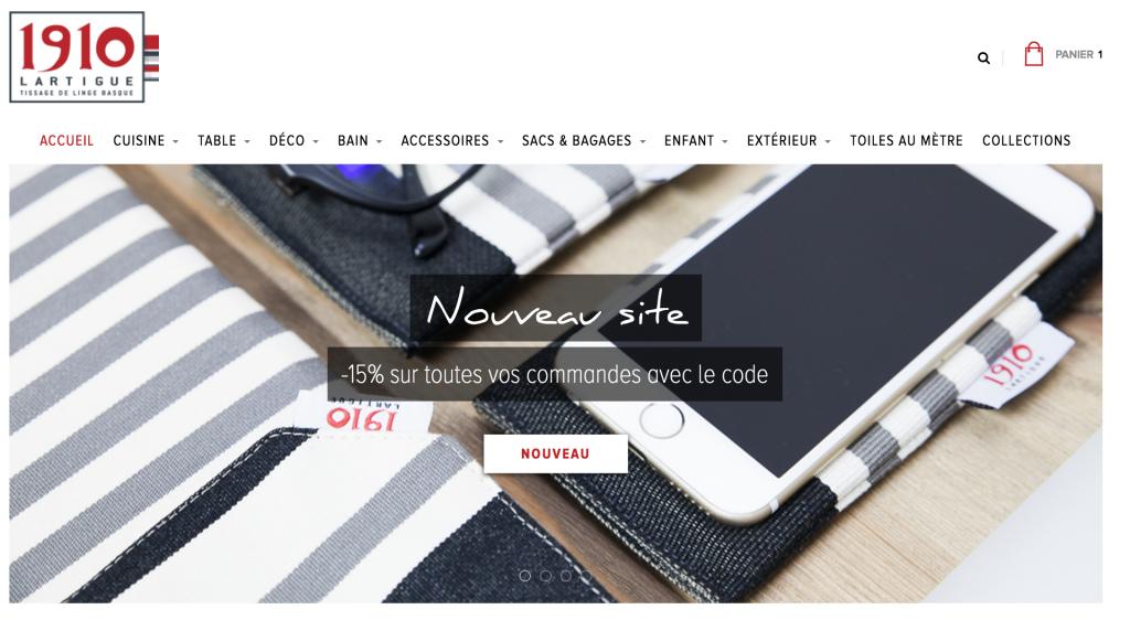 linge basque nouveau site !