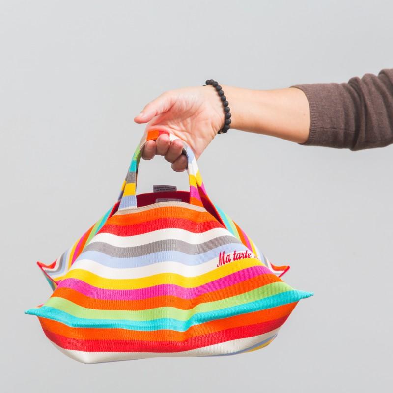 porte-plat-a-tarte-basque-coton-maider-etain-rayure-rouge-verte-bleu-orange-jaune