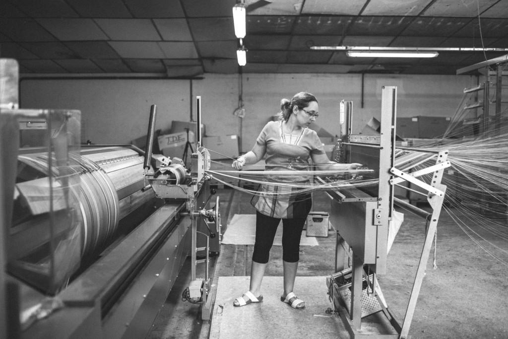 atelier de tissage de toile basque Lartigue 1910