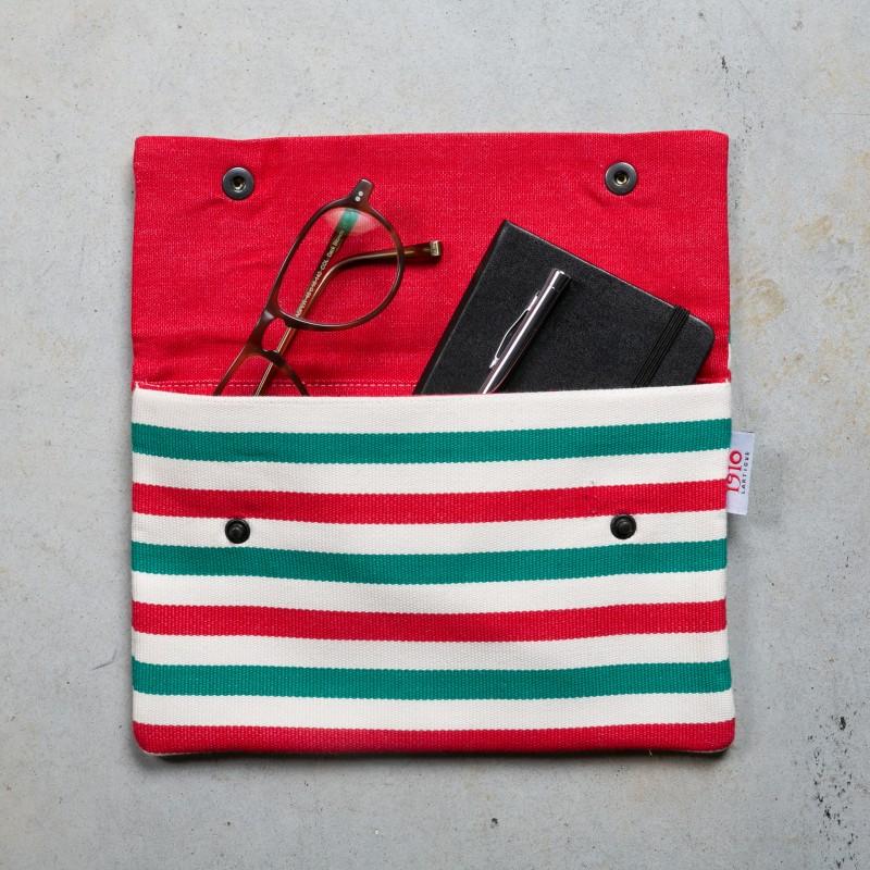 porte-documents-basque-euskal-rayure-rouge-verte-blanche