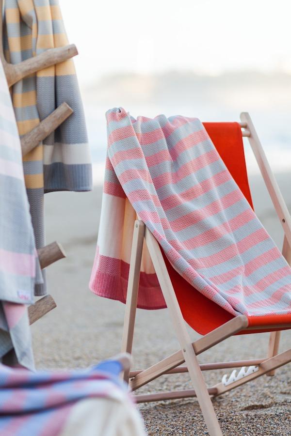 Draps de plage 100% coton