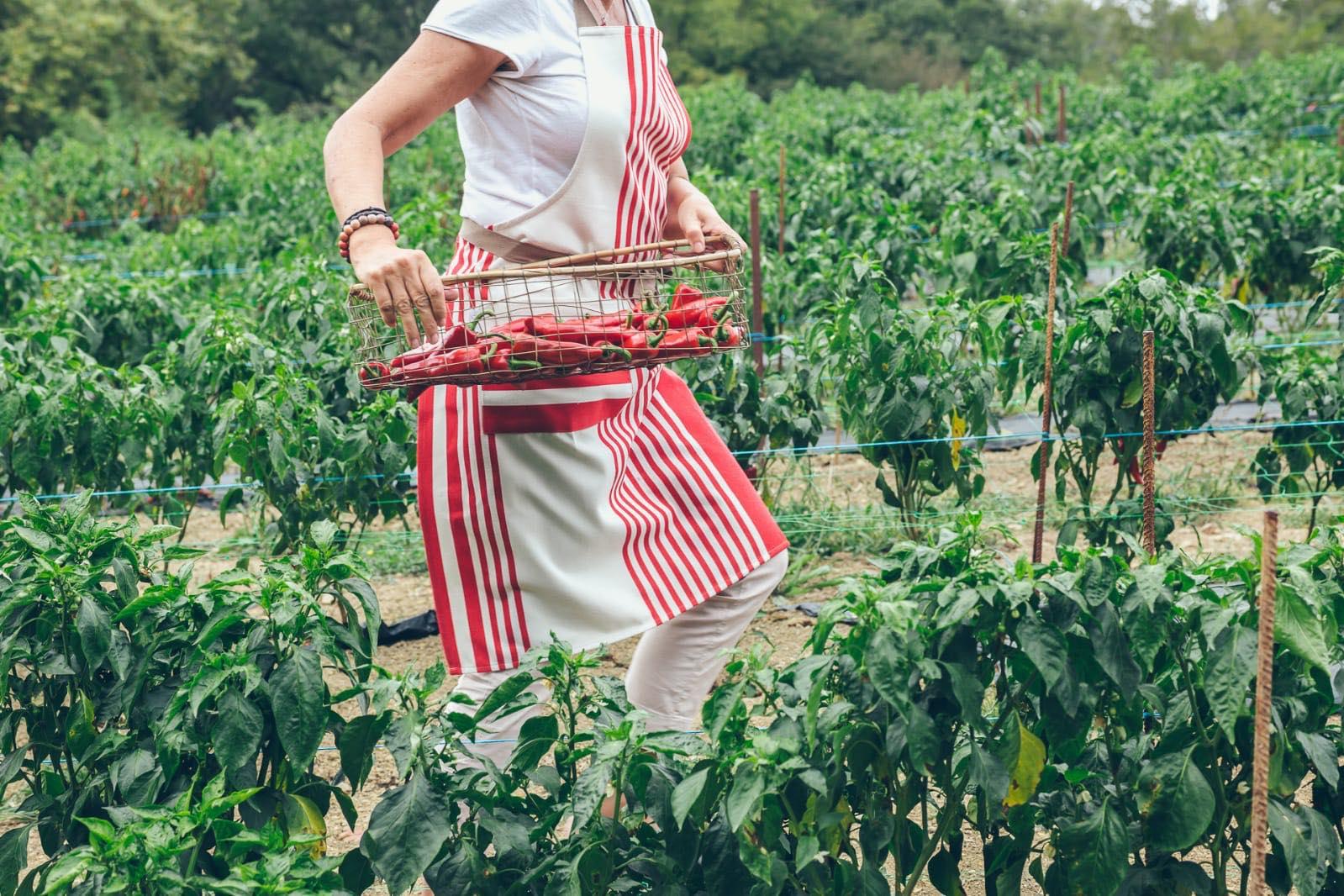 Tablier artisanal tissé en coton 100% Bio